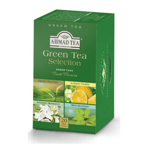 Ahmad Assorted Green Tea (4 Flavors)