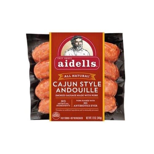 Aidells Smoked Pork Sausage Cajun Style Andouille (8 pc)
