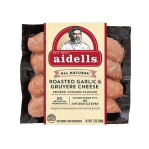 Aidells Smoked Chicken Sausage Roasted Garlic & Gruyere  (8 pc)