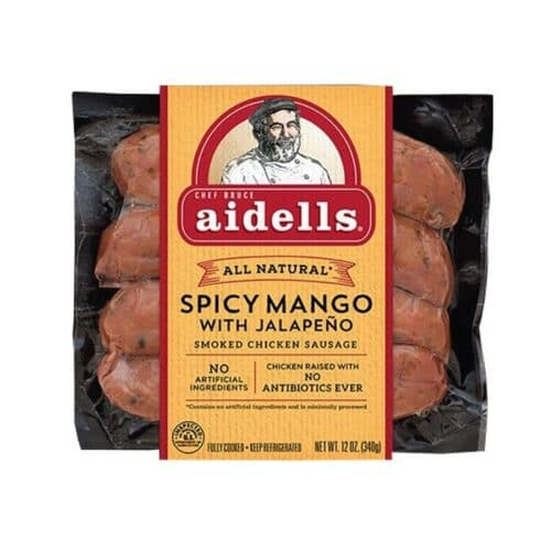 Aidells Smoked Chicken Sausage Spicy Mango with Jalapeno (8 pc)