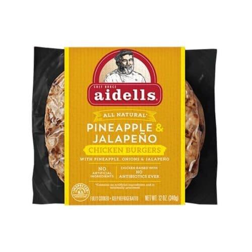 Aidells Chicken Burgers Pineapple & Jalapeno (8 pc)
