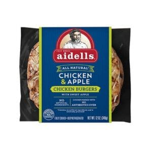 Aidells Chicken Burgers Chicken & Apple (8 pc)