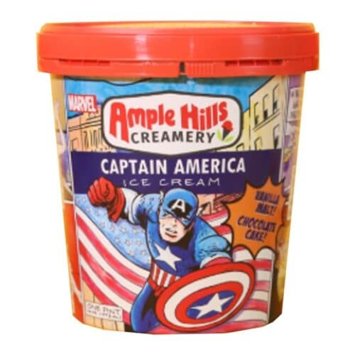 [F] Ample Hills Captain America Vanilla Malt & Chocolate Cake