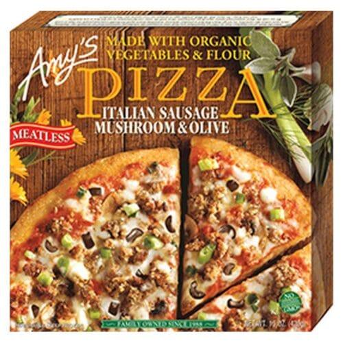 [F] Amys Italian Sausage, Mushrooms & Olive Pizza #834