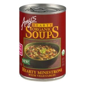 Amys Hearty Minestrone with Vegetables Soup