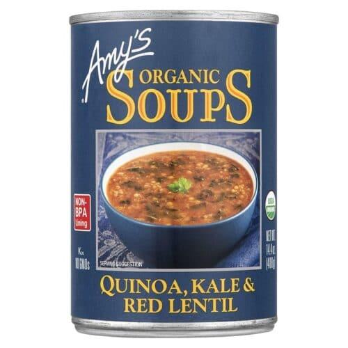 Amys Quinoa, Kale and Red Lentil Soup
