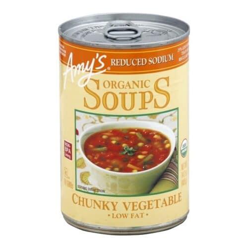 Amys Reduced Sodium Org.Chunky Vegetable