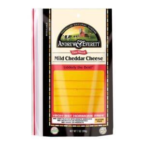 Andrew & Everett Pre-Sliced Cheese Mild Cheddar
