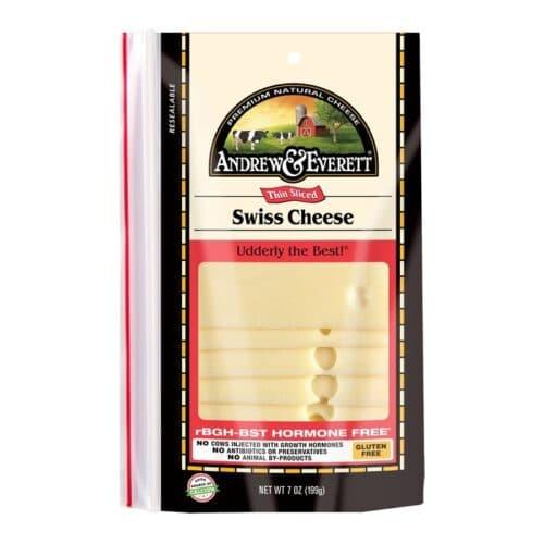 Andrew & Everett Pre-Sliced Cheese Swiss