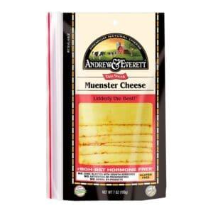 Andrew & Everett Pre-Sliced Cheese Muenster