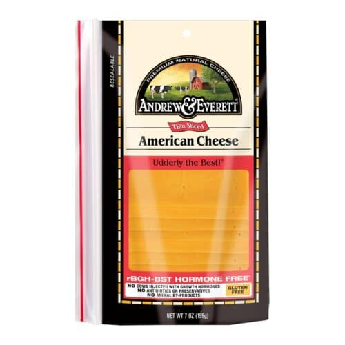 Andrew & Everett Pre-Sliced Cheese American-Yellow