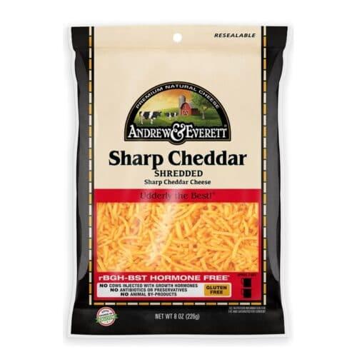 Andrew & Everett Shredded Sharp Cheddar