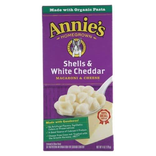 Annies Natural Macaroni & Cheese Shells & White Cheddar (Purple Box)