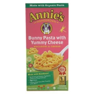 Annies Natural Macaroni & Cheese Bunny shape Pasta w/ Yummy Cheese