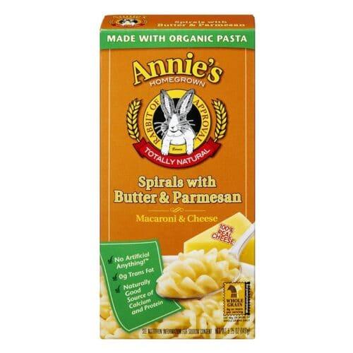 Annies Natural Macaroni & Cheese Spirals w/Butter & Parmesan