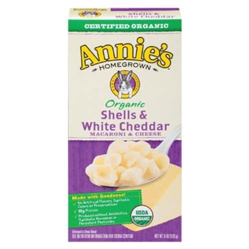 Annies Organic Macaroni & Cheese Shells & White Cheddar (Purple Box)