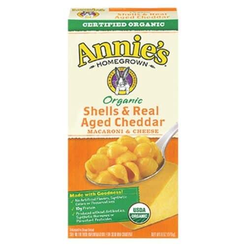 Annies Organic Macaroni & Cheese Shells & real-Aged Wisconsin Cheddar (Orange Box)