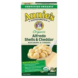 Annies Organic Macaroni & Cheese Alfredo Shells & Cheddar