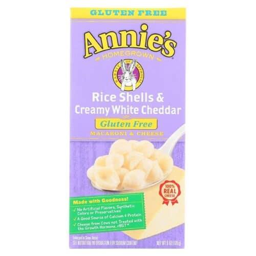 Annies GF Rice Pasta Shells & White Cheddar