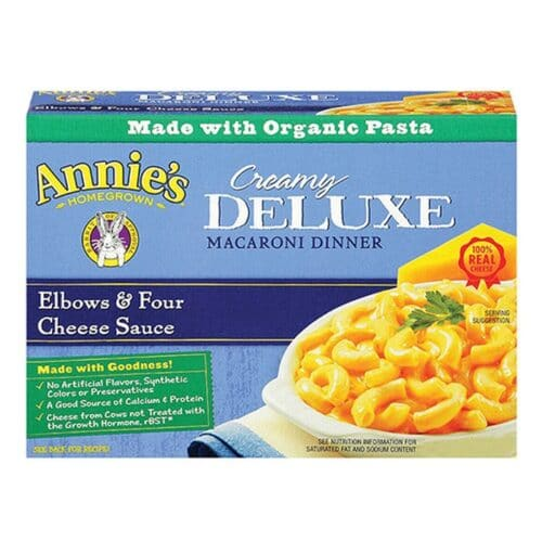 Annies Deluxe Mac & Cheese Elbows & 4 Cheese Sauce