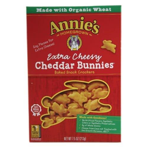 Annies Cracker Extra Cheesy Cheddar Bunnies