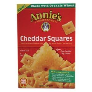 Annies Cracker Cheddar Square Cracker