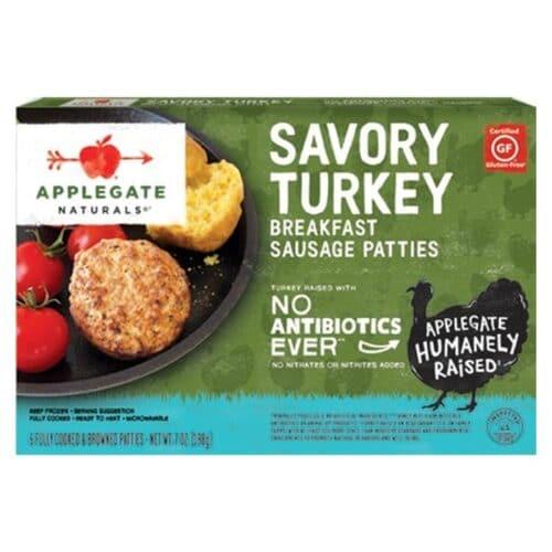 Applegate Natural Savory Turkey Breakfast Sausage Patties