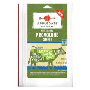 Applegate Natural Provolone Cheese SL  (12 pc