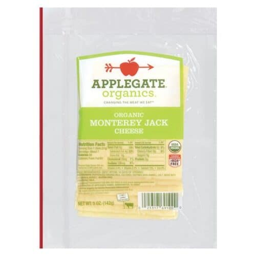 Applegate Org. Monterey Jack Cheese SL (12 pc