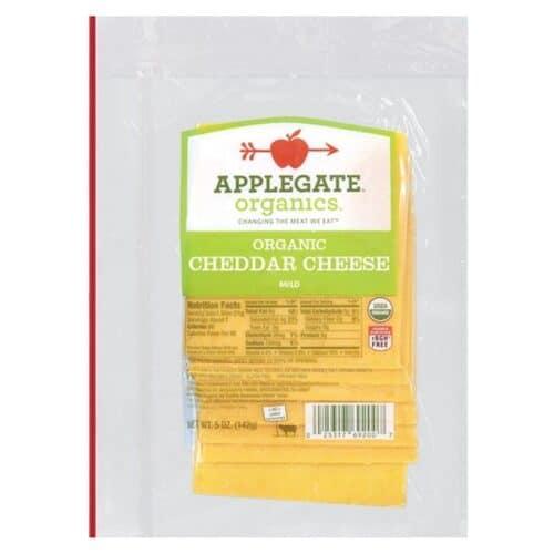 Applegate Org. Mild Cheddar Cheese SL (12 pc)