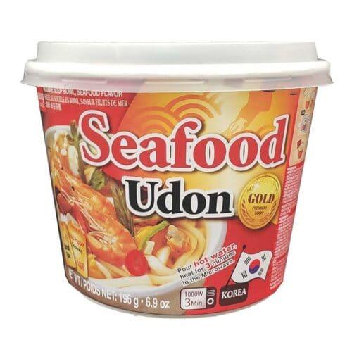 Asian Noodle Soup Bowl Seafood Udon