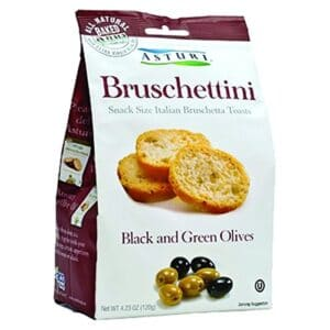 Asturi Bruschettini W/Black and Green Olives