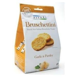 Asturi Bruschettini W/Garlic & Parsley