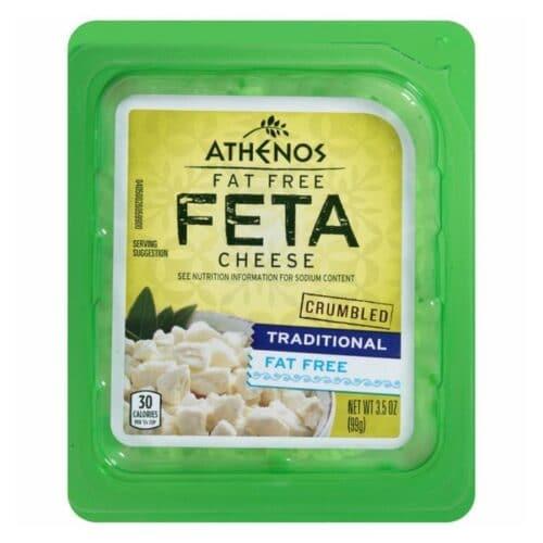 Athenos Fat Free Feta Crumble (12 pc)