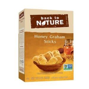 Back to Nature Cookies Honey Graham Sticks