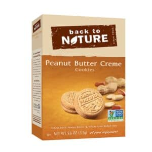 Back to Nature Cookies Peanut Butter Cream Sandwich