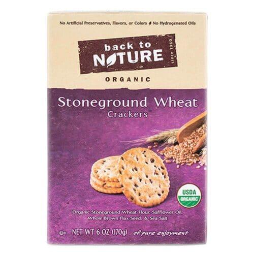 Back to Nature Crackers Organic Stoneground Wheat