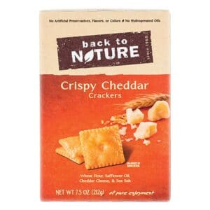 Back to Nature Crackers Crispy Cheddar