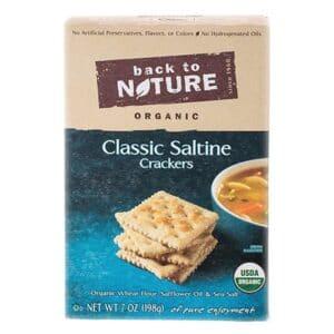 Back to Nature Crackers Organic Saltine