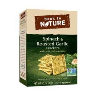 Back to Nature Crackers Spinach & Roasted Garlic