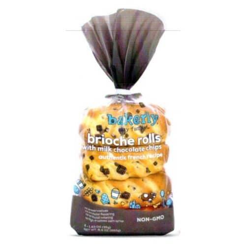 Bakerly Brioche Rolls Milk Chocolate Chips (9 pc)