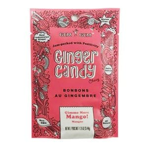 Barefood Chewy Ginger Candy - Mango