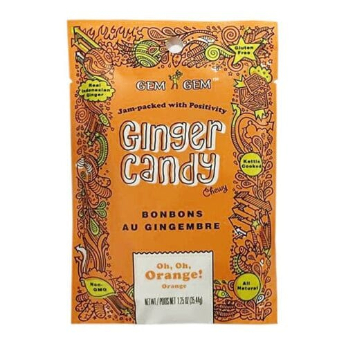 Barefood Chewy Ginger Candy - Orange