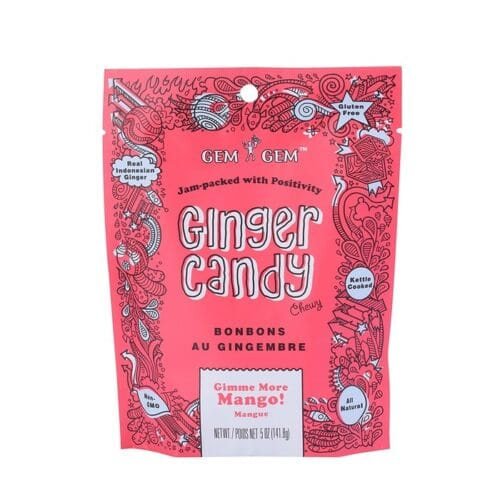 Barefood Chewy Ginger Candy - Mango (Large)