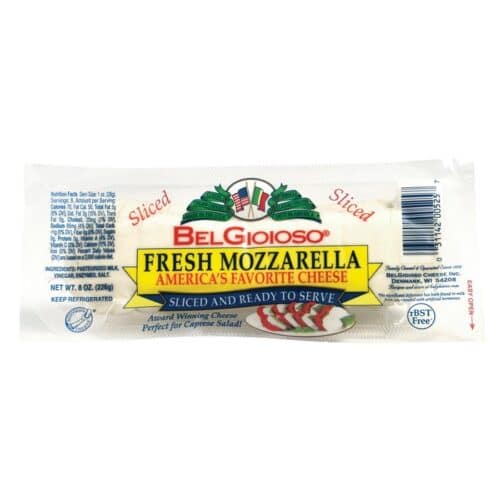 Belgioioso Pre Sliced Mozzarella Log (12 pc)