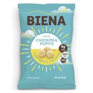 Biena Chickpea Puffs Aged White Cheddar (12/3.2oz)
