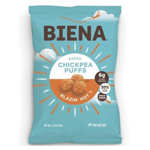 Biena Chickpea Puffs Blazin Hot (12/3.2oz)