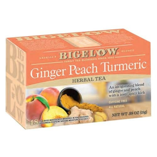 Bigelow Herbal Tea Ginger Peach Turmeric