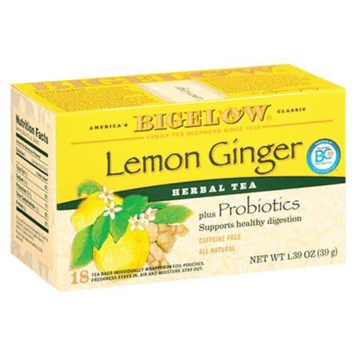 Bigelow Herbal Tea Lemon Ginger + Probiotics [