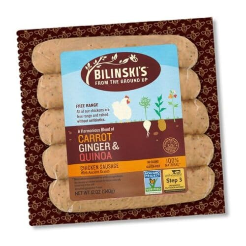 Bilinskis Natural Carrot Ginger & Onion Chicken Sausage